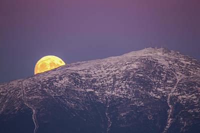 Super Moon Rising Art Print