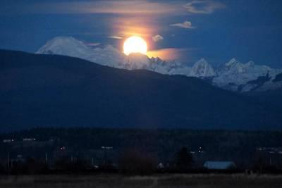 Photograph - Super Moon Rising by Karen Molenaar Terrell