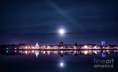 Halls Harbour Photograph - Super Moon Rising Over Blue Kings Lynn by Simon Bratt Photography LRPS