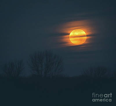 Photograph - Super Moon Setting by Cheryl Baxter