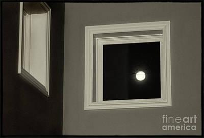 Photograph - Super Moon Through A Window by Karen Adams