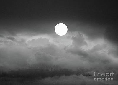 Photograph - Super Moon With Fogs by Yumi Johnson