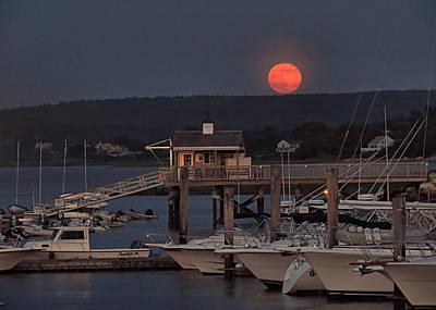 Photograph - Super Moonrise 2013 by Janice Drew