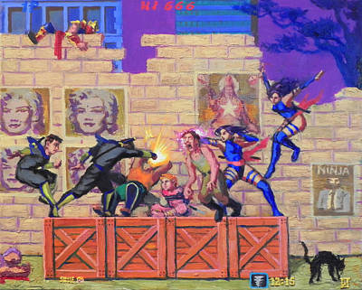 Super Ninja Saga  Print by Luiz Teles