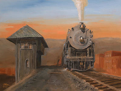 Railroad Painting - Super Power At Scranton by Christopher Jenkins