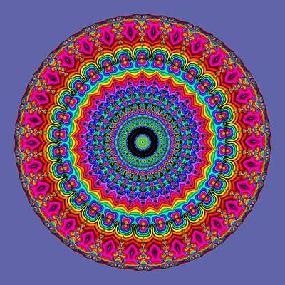 Chakra Rainbow Digital Art - Super Rainbow Mandala by Ruth Moratz