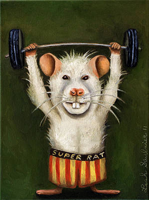 Super Rat Original by Leah Saulnier The Painting Maniac