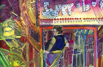 Super Scooper Ride Print by Mindy Newman