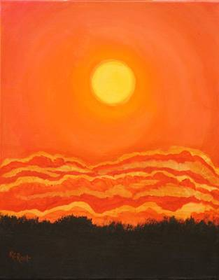 Painting - Super Sunset by Ralph Root