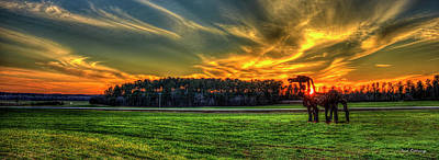 Photograph - Super Sunset The Iron Horse Collection Art by Reid Callaway