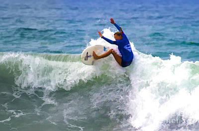 Digital Art - Super Surfer Girl by Waterdancer