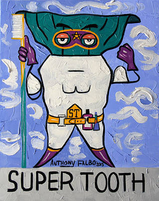 Super Tooth Art Print by Anthony Falbo