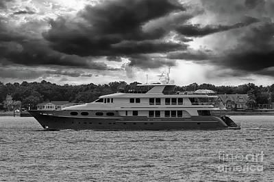 Photograph - Super Yacht Abbracci by Dale Powell