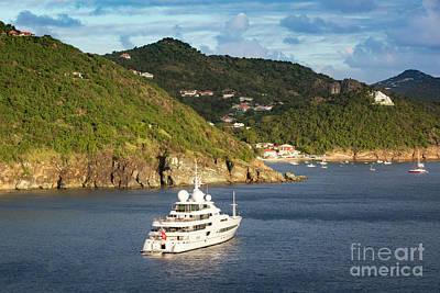 Photograph - Super Yacht - St Barths by Brian Jannsen