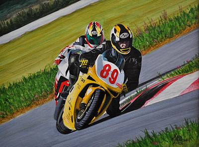 Painting - Superbikes by Kenneth M  Kirsch