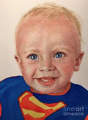 Painting - Superboy by Kathy Flood