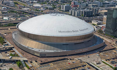 Photograph - Superdome by Gregory Daley  MPSA