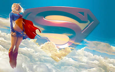 Supergirl Mixed Media - Supergirl Art by Marvin Blaine