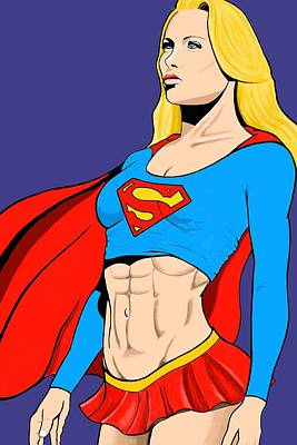 Supergirl Digital Art - Supergirl by Brian Broadway