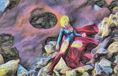 Super Girl Digital Art - Supergirl by JC Findley