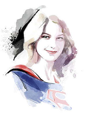 Supergirl Painting - Supergirl by Unique Drawing