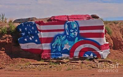 Going Green - Superhero Captain America by John Malone