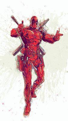 Superhero. Deadpool. Art Print