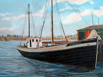 Painting - Superior At The Wharf by Laurence Dahlmer
