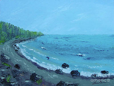 Painting - Superior Coast 1 by Lilibeth Andre