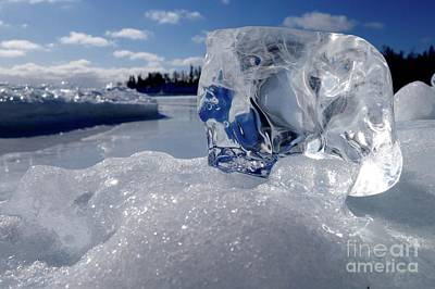 Photograph - Superior Ice Gem by Sandra Updyke