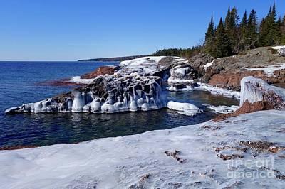 Photograph - Superior Iced Shoreline by Sandra Updyke