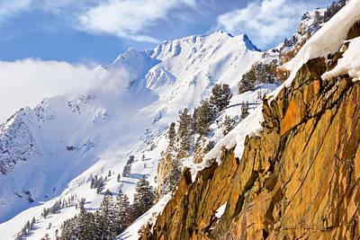 Superior Peak In The Utah Wasatch Mountains  Art Print by Utah Images