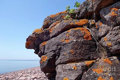 Photograph - Superior Rock Outcrop by Sandra Updyke