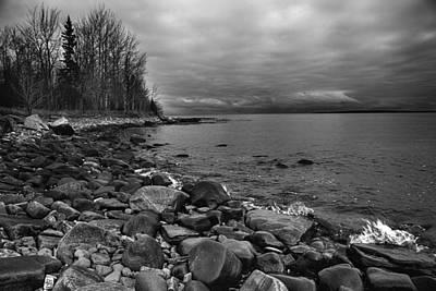 Photograph - Superior Shoreline by CA  Johnson