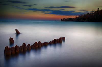 Photograph - Superior Shores by CA  Johnson