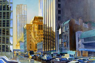 Chicago Painting - Superior Street by Rick Clubb