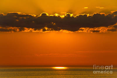 Photograph - Superior Sunset by CJ Benson