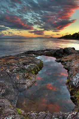 Photograph - Superior Sunset by Steve Stuller
