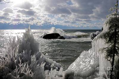 Photograph - Superior Waves And Ice by Sandra Updyke
