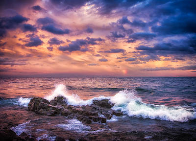 Photograph - Superior Waves by Rikk Flohr