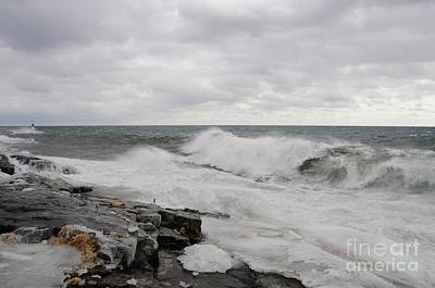 Photograph - Superior Wild Waves by Sandra Updyke