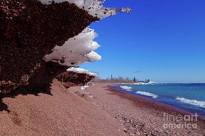 Photograph - Superior Winter Beach by Sandra Updyke