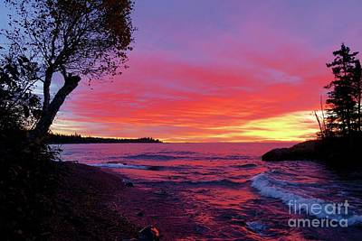 Photograph - Superior Wow Sunrise by Sandra Updyke
