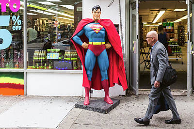 Lex Luthor Photograph - Superman And Lex Luthor by Bautista NY