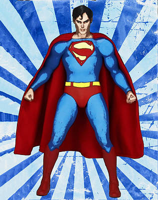 Anime Digital Art - Superman by Bill Cannon