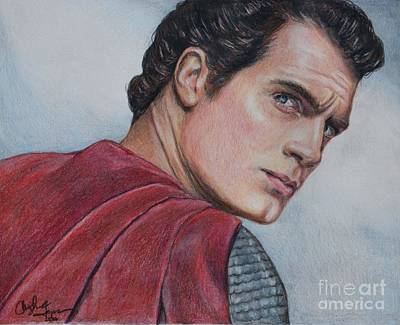 Drawing - Superman by Christine Jepsen