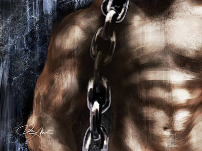 Digital Art - Bodybuilder With Chain by Dani Abbott