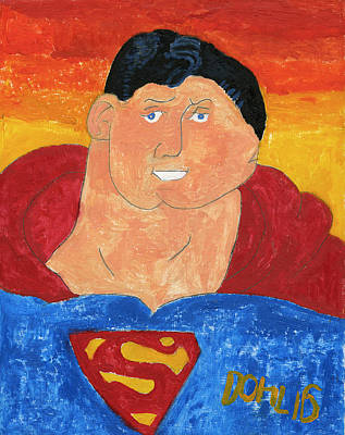 Painting - Superman by Don Larison