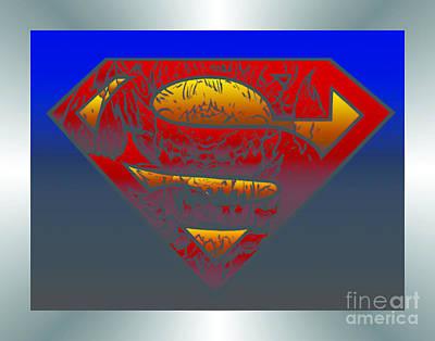 Superman Digital Art - Superman Doomsday Silver Edition by Justin Moore