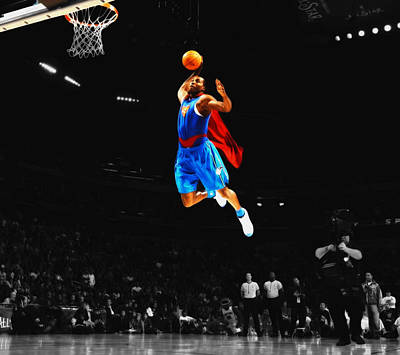 Superman Dwight Howard Art Print by Brian Reaves